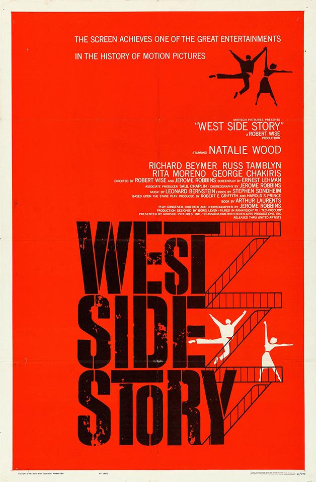 """Cartaz do clássico """"West Side Story"""""""