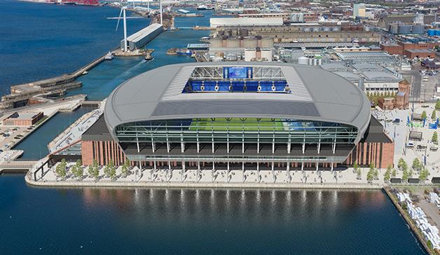 O projeto do futuro estádio do Everton na região