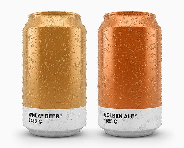 Cervejas Pantone do designer Txaber