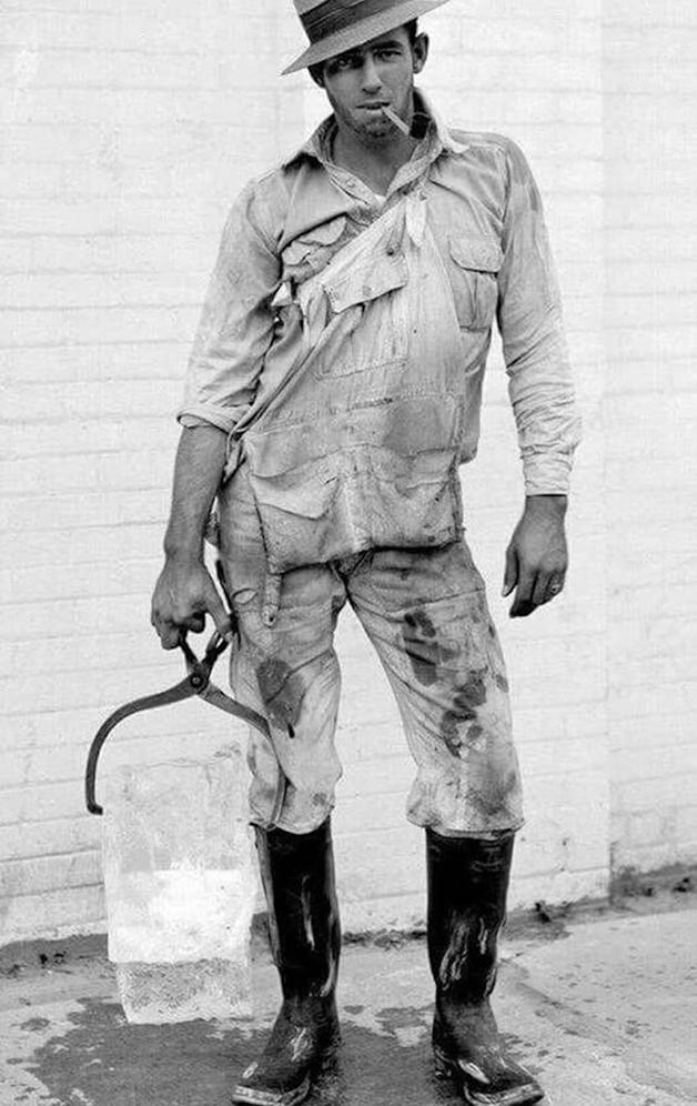 Entregador em Houston, no Texas, em 1928