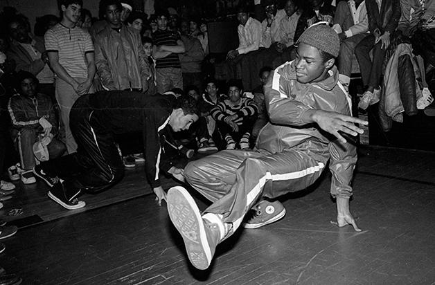 B-boys em festa no Bronx nos anos 7