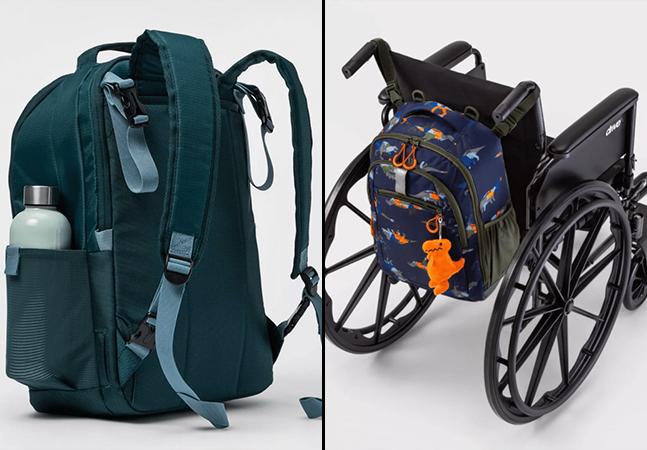 Mochila adaptável é lançada com design para facilitar o uso em cadeiras de rodas