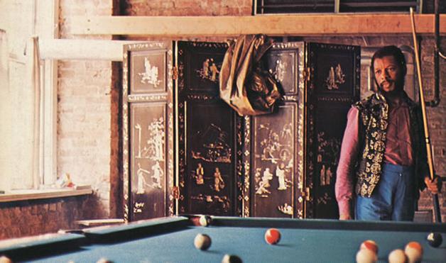 Ornette Coleman em seu loft na Prince Street em outubro de 1969