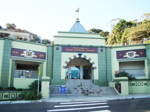 Entrada do Zoológico de Taronga, em Sidney