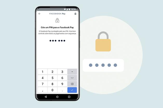Tela do PIN do Facebook Pay
