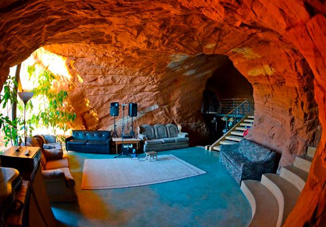 A incrível fazenda dentro de uma caverna no estado de Utah, nos EUA