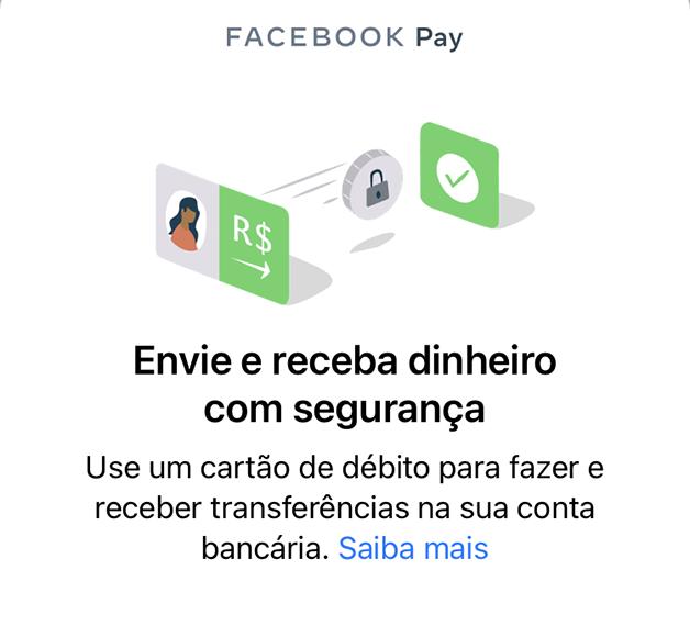 Tela de Whatsapp pay