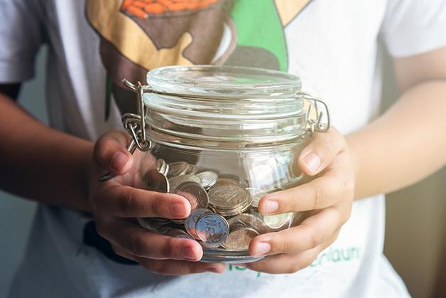 dinheiro guardado