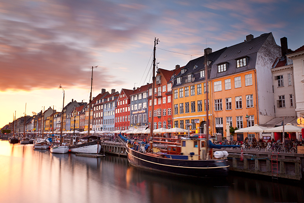 O canal Nyhavn, em Copenhague
