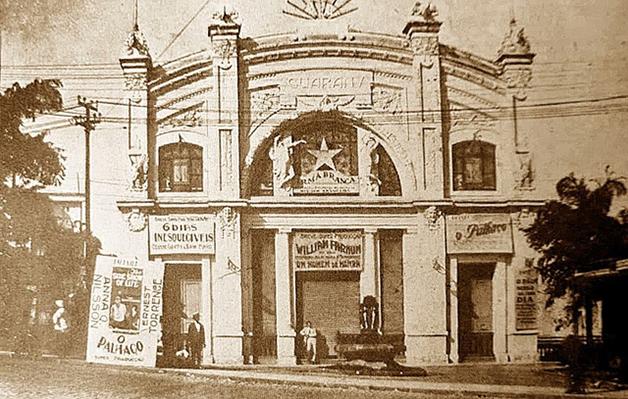 A fachada do antigo Guarany
