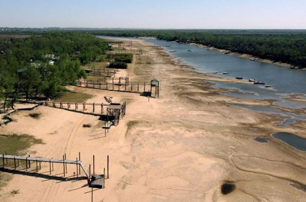 Seca no Rio Paraná