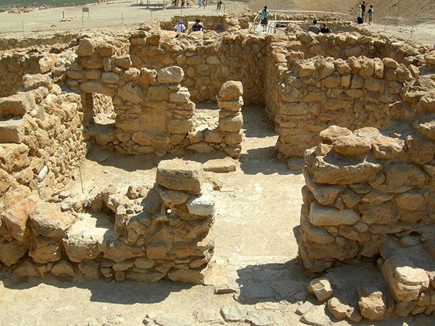 Um dos pontos das ruínas de Qumran onde cerimônias eram realizadas