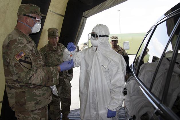 Recentemente a Guarda Nacional também foi deslocada para ajudar a aplicar vacinas contra a Covid-19 no país