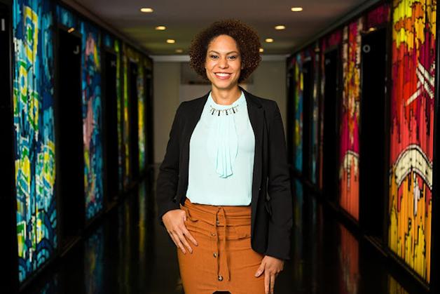 Samanttha Neves, efetivada em abril como Líder de Análise, participou da primeira turma do Next Step