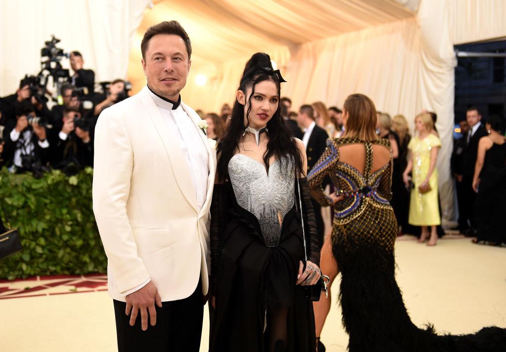Grimes e Elon Musk em 2018