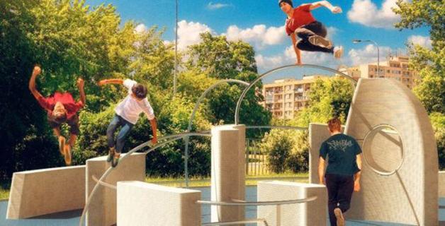 Playground para Parkour em Praga