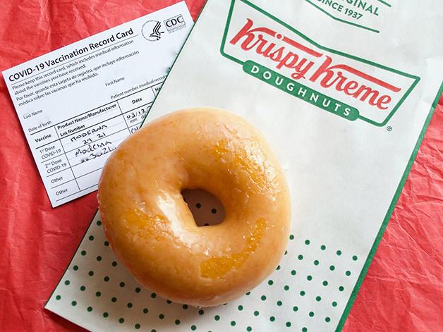 Loja estadunidense oferece um donut para quem comprovar a vacinação completa