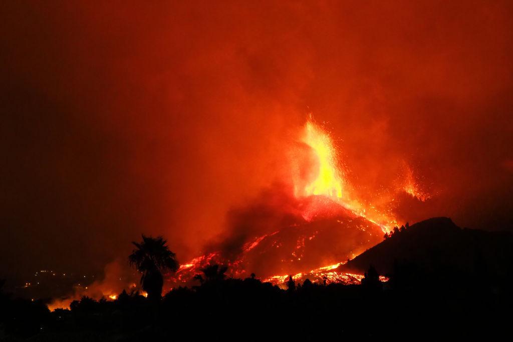 tsunami no Brasil - vulcão em La Palma