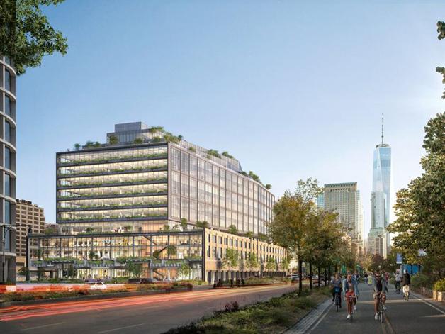 O projeto do prédio, feito pelo escritório de arquitetura Cookfox