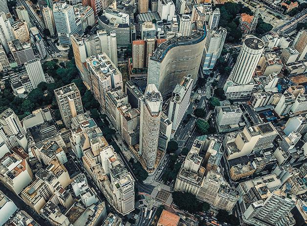 Centro de São Paulo visto de cima