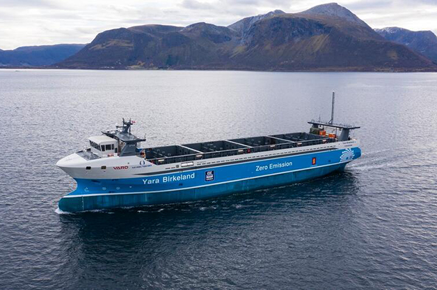 Yara Birkeland, navio de carga elétrico e sem tripulação