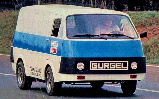 O furgão elétrico E-400, lançado pela Gurgel nos anos 1980