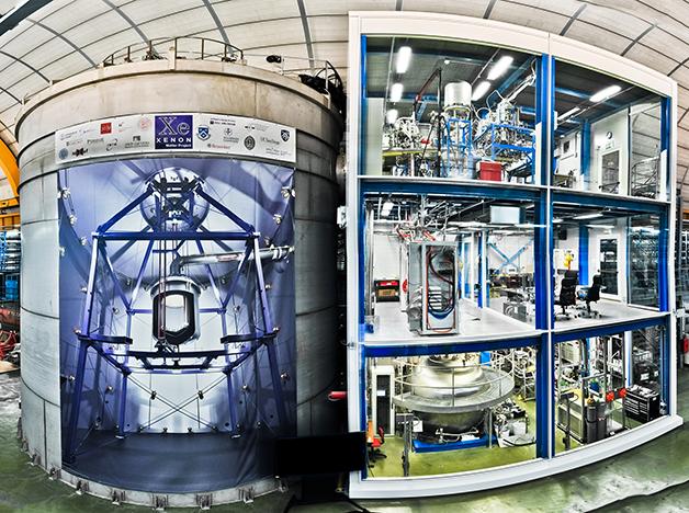 As instalações subterrâneas do laboratório, onde se localiza o XENON1T