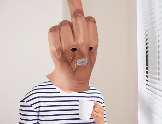 Máscara de dedo do meio da Autek