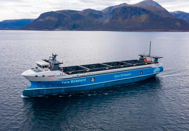 Primeiro cargueiro autônomo e elétrico irá zarpar da Noruega no fim do ano