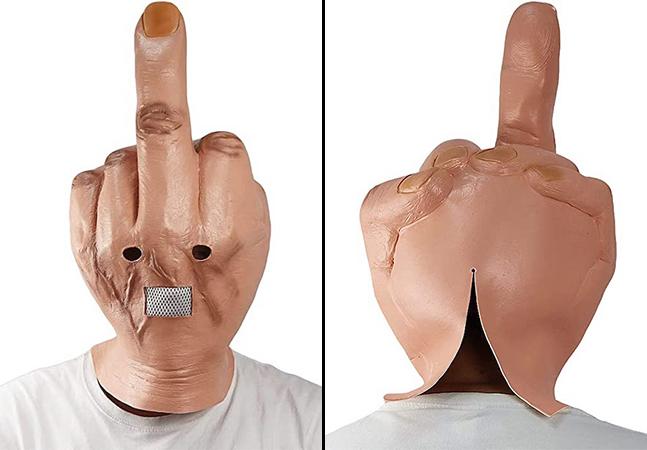 Dedo do meio: a máscara perfeita para traduzir o espírito de 2021