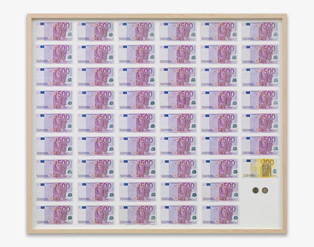 """""""Salário médio de um austríaco"""", de Jens Haaning"""