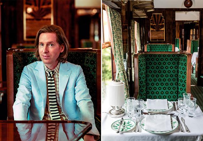 Wes Anderson decora vagão de trem no Reino Unido feito fosse o cenário de um de seus filmes