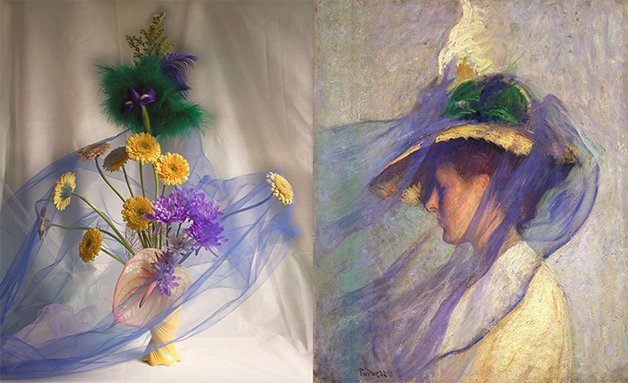 """The Blue Veil"", de Edmund Charles Tarbell (1898)"
