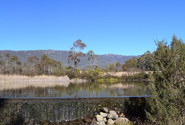 O cenário da reserva de Tidbinbilla, na Austrália