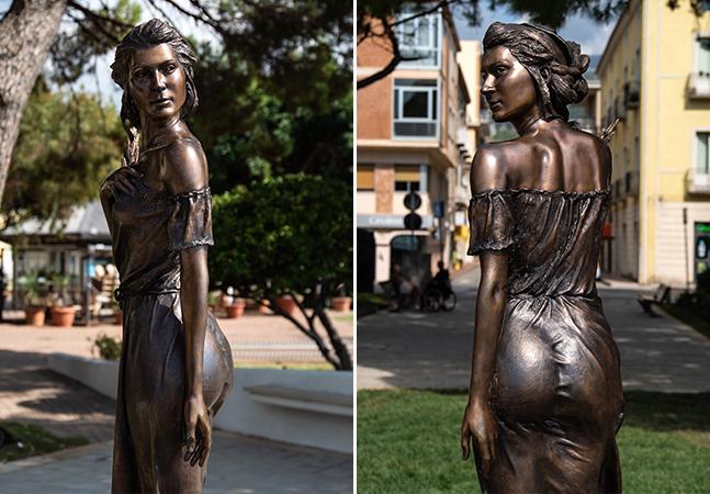 A estátua com roupas sensuais que escancara o machismo na Itália
