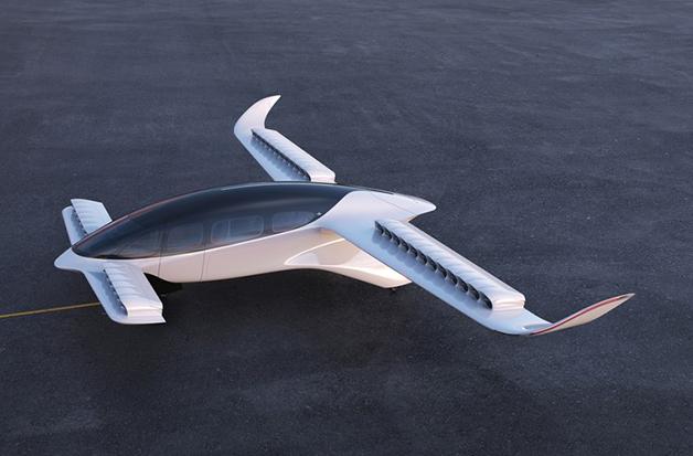 O veículo da Lilium, modelo que será utilizado pela Azul
