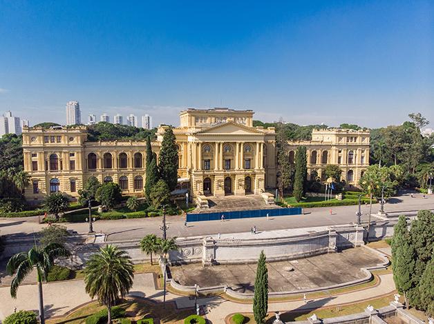 O Museu do Ipiranga antes da obra