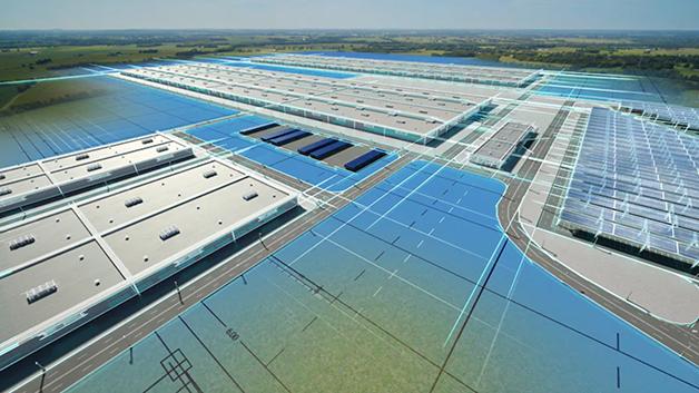 Modelo da fábrica da Ford a ser construída no Kentucky