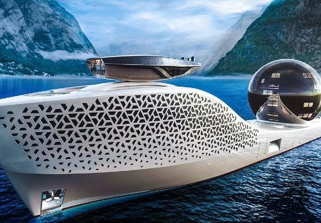 Este Iate é um laboratório climático de R$ 3 bi projetado com reator nuclear de sal e livre de emissões