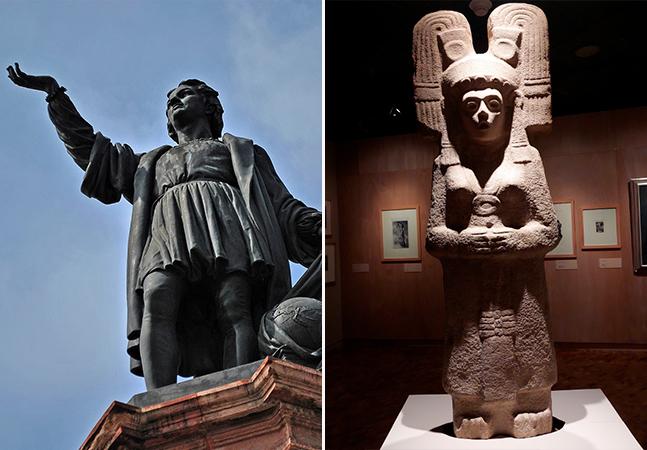 Estátua de Colombo na Cidade do México será substituída por estátua de jovem pré-hispânica