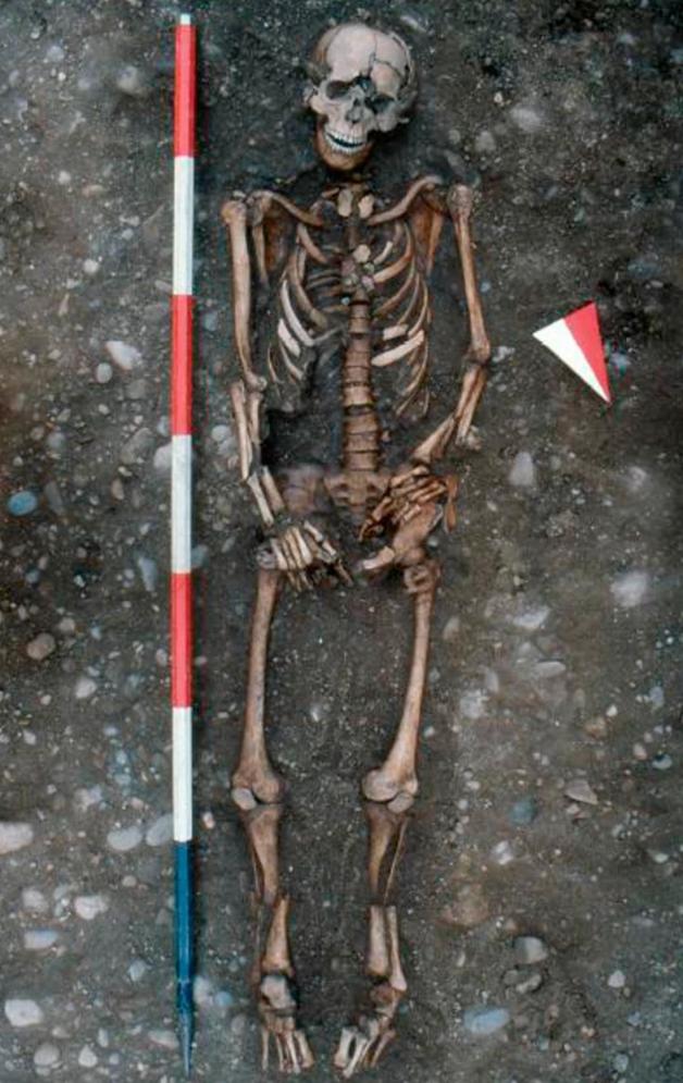 O esqueleto torturado descoberto em Milão