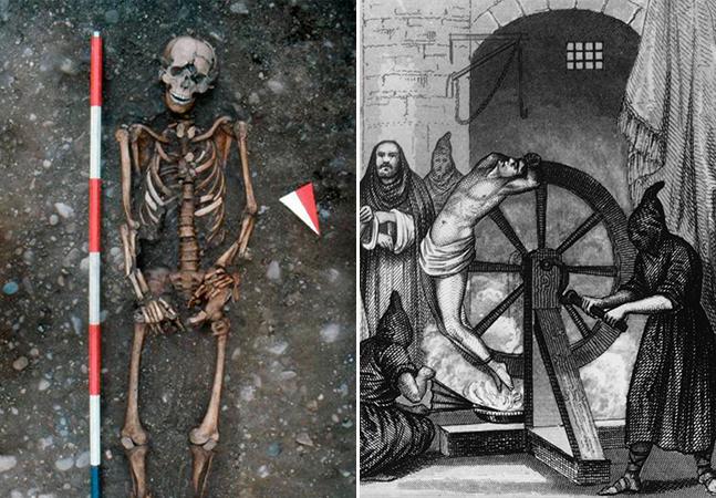 Esqueleto descoberto na Itália pode ter sido vítima de uma das piores formas de tortura da história