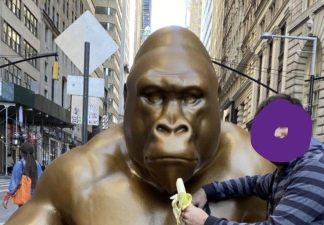 Harambe, gorila covardemente abatido após criança cair em jaula, ganha estátua em NY