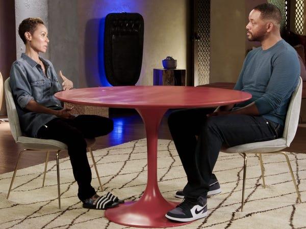 Will Smith e Jada Pinkett Smith no Red Table Talk